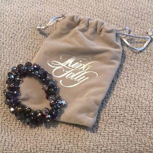 Beaded purple bracelet